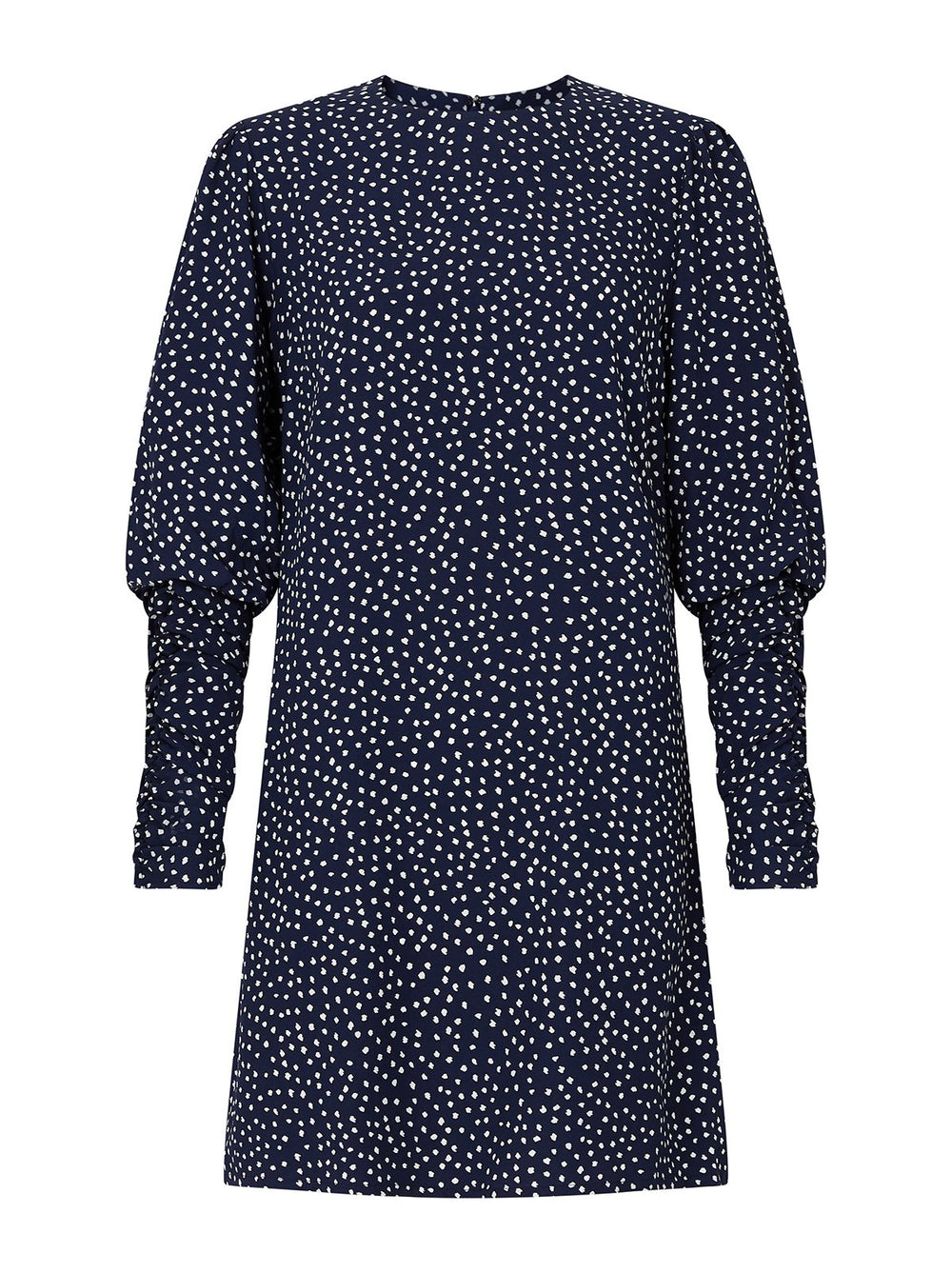 Alexandra Navy Spot Print Mini Dress by KITRI Studio
