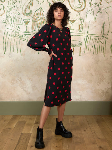 Alison Polka Dot Midi Dress by KITRI Studio