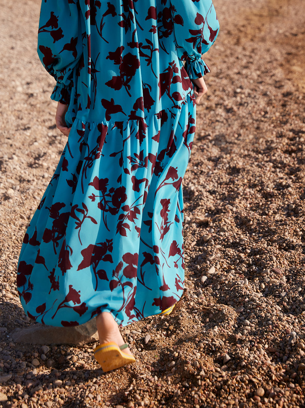 Anamaria Printed Bardot Maxi Dress by KITRI Studio
