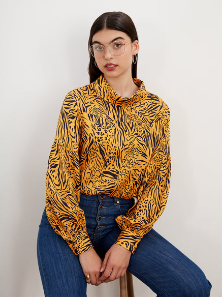 Beatrix Animal Print Top by KITRI Studio