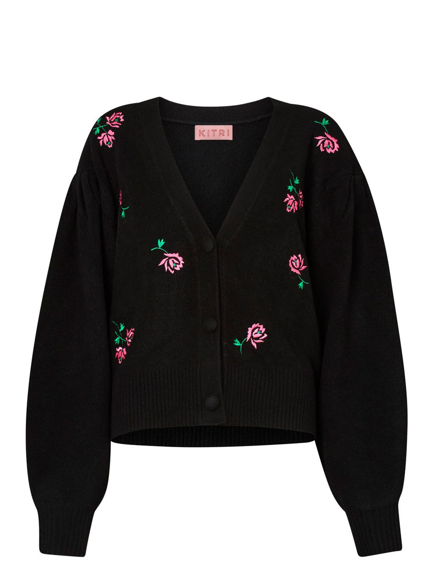 Pre-order: Beth Rose Embroidered Cardigan