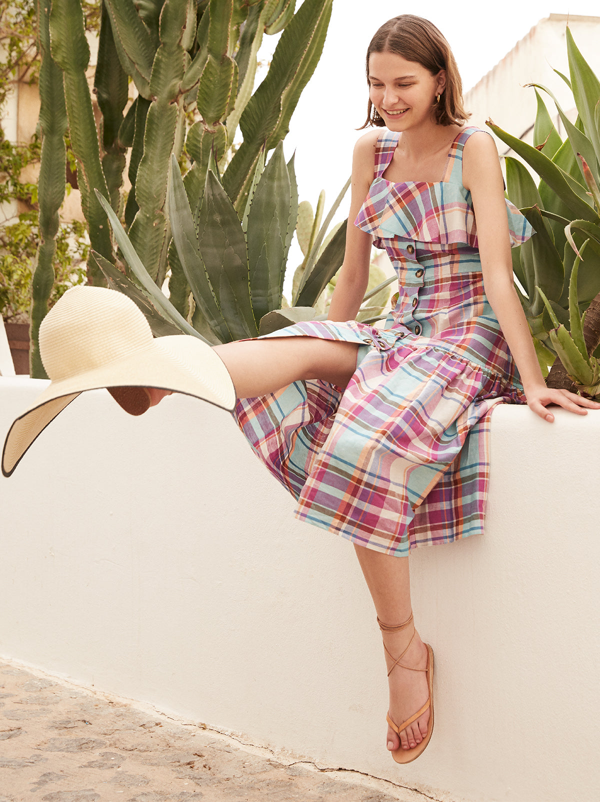 Blakeley Linen Check Dress