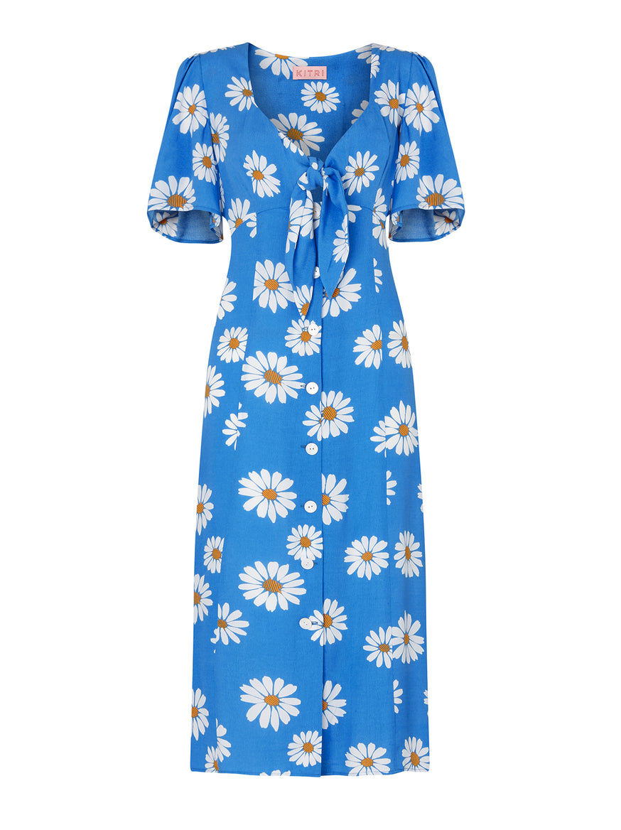Cassandra Floral Print Midi Dress by KITRI Studio