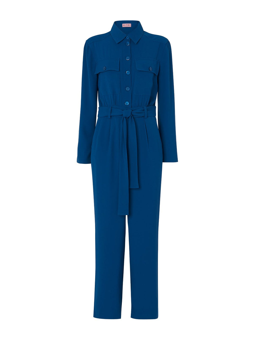 Celeste Blue Tailored Jumpsuit by KITRI Studio