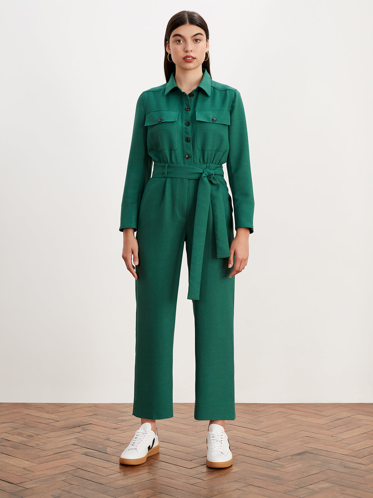 Celeste Green Tailored Jumpsuit by KITRI Studio