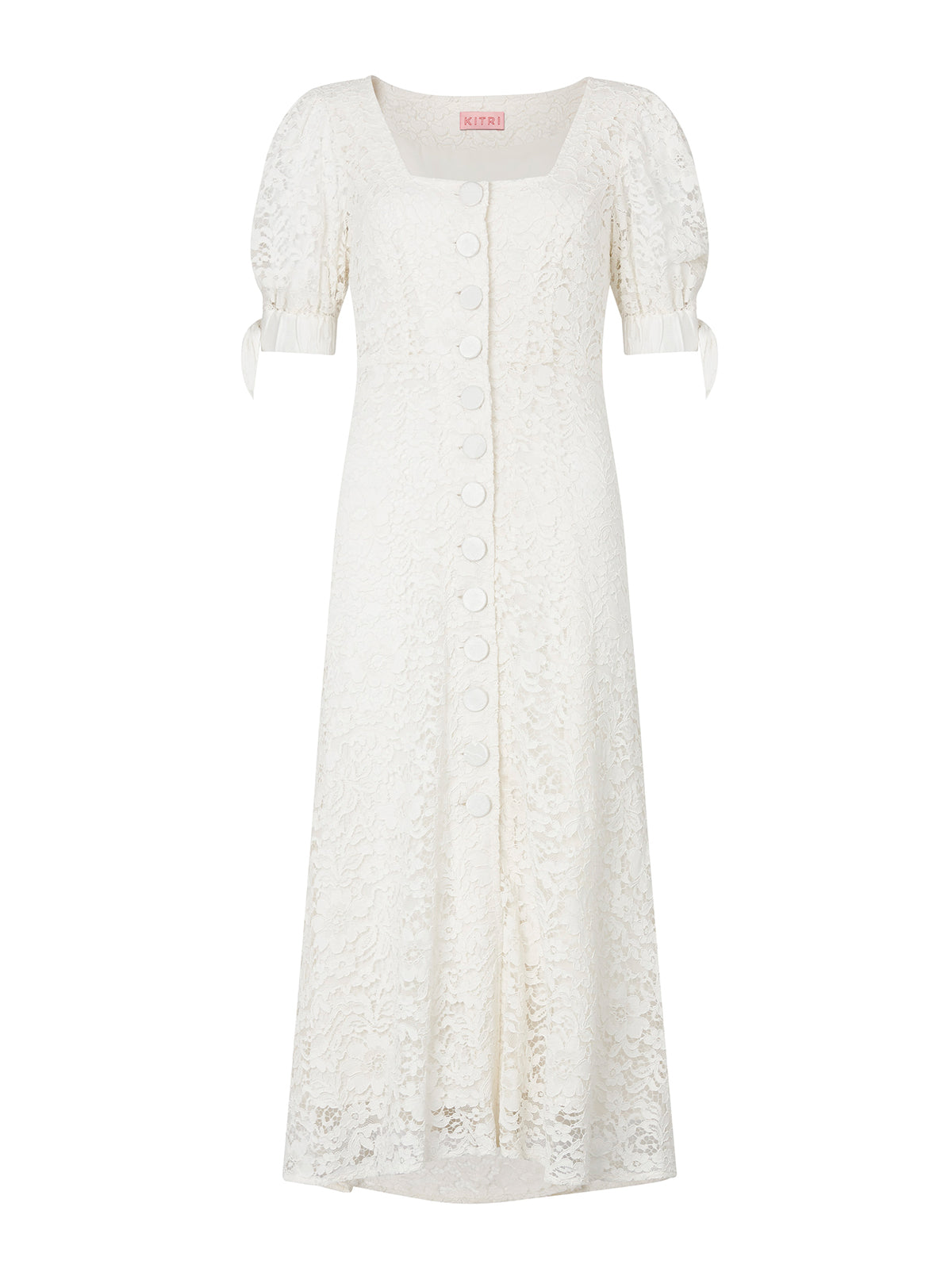 Chagall Ivory Lace Midi Dress by KITRI Studio
