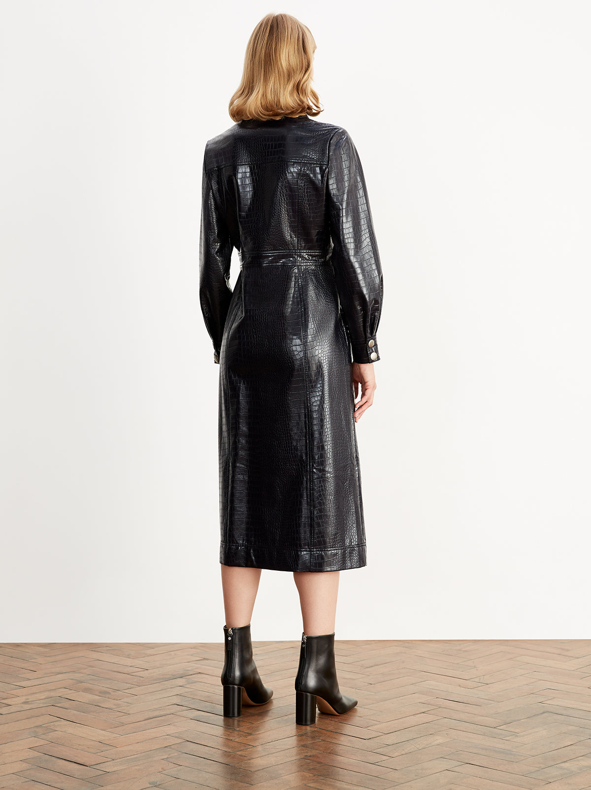 Charlie Mock Croc Midi Dress by KITRI Studio