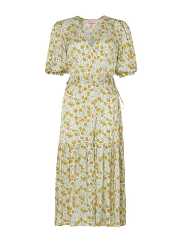 Pre-order: Connie Floral Print Wrap Dress