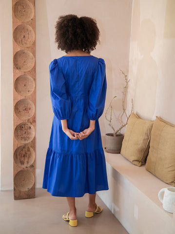 Daphne Blue Midi Dress