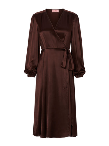 Diana Chocolate Wrap Dress