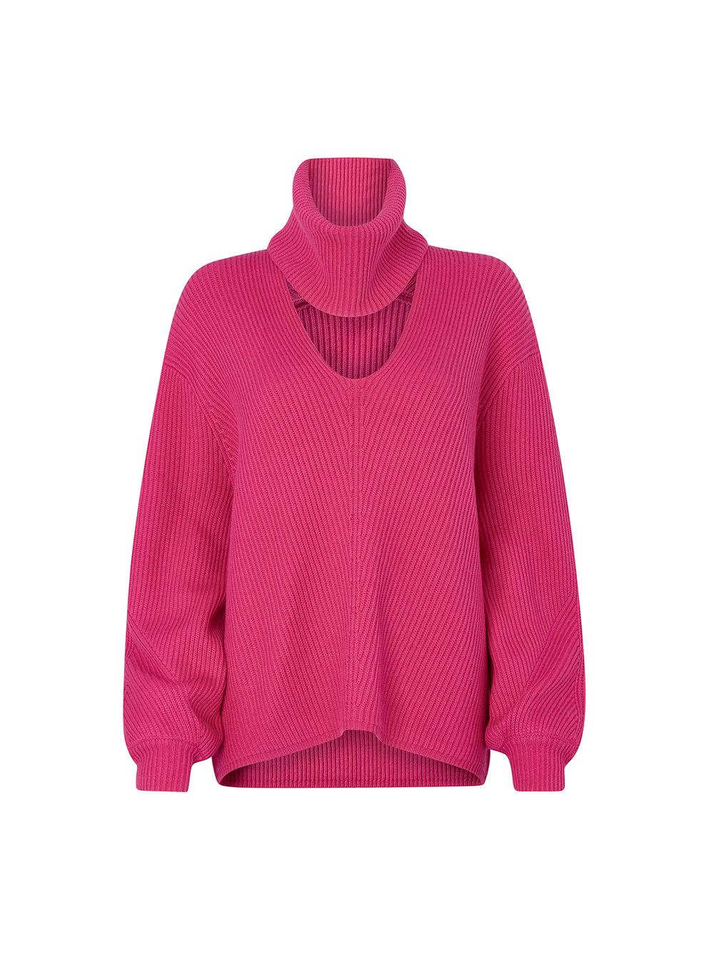 Donna Pink Rib Knit Jumper by KITRI Studio