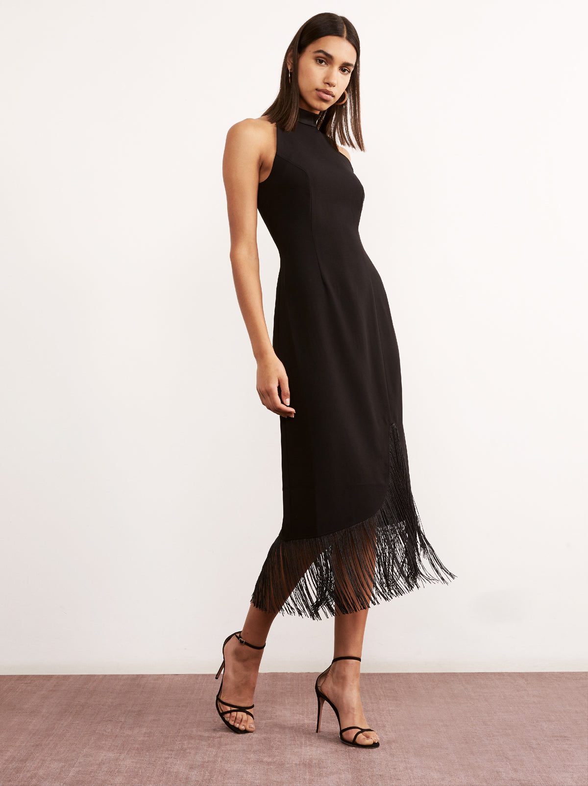 Eleanor Black Tassel Cocktail Dress by KITRI Studio