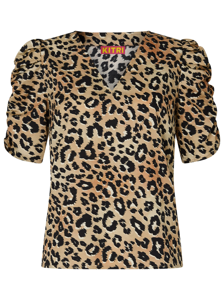 Ellen Leopard Print Cotton Top by KITRI Studio