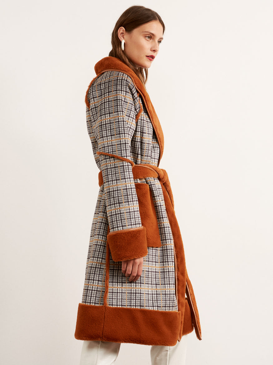 Finley Ginger Reversible Teddy Coat by KITRI Studio