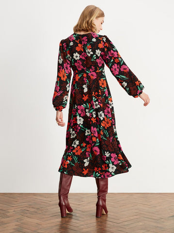 Fiona Floral Print Midi Dress by KITRI Studio