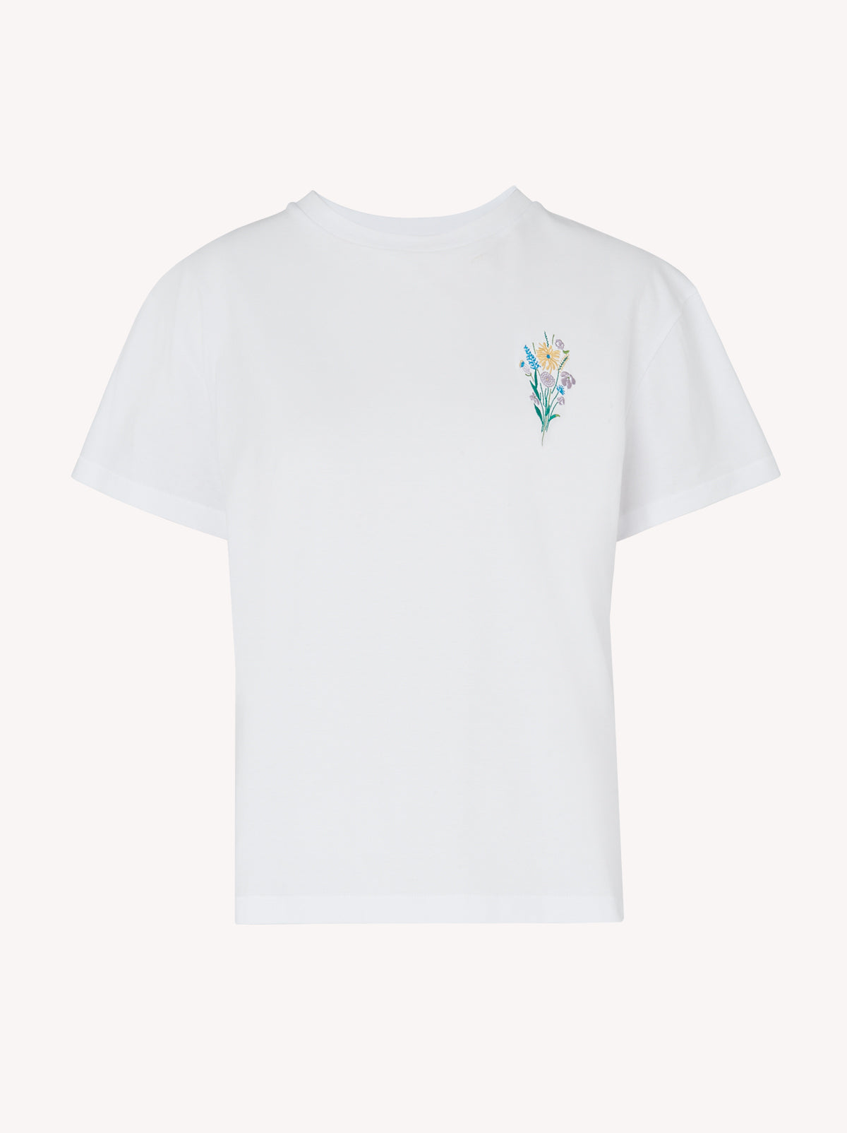 Flower White Cotton Embroidered T-shirt Mannequin by KITRI Studio.jpg