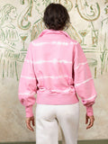 Frankie Pink Tie Dye Organic Cotton Zip Up Sweatshirt