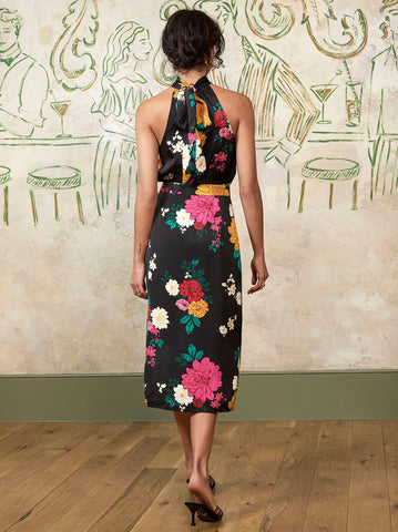 Frida Floral Pencil Skirt