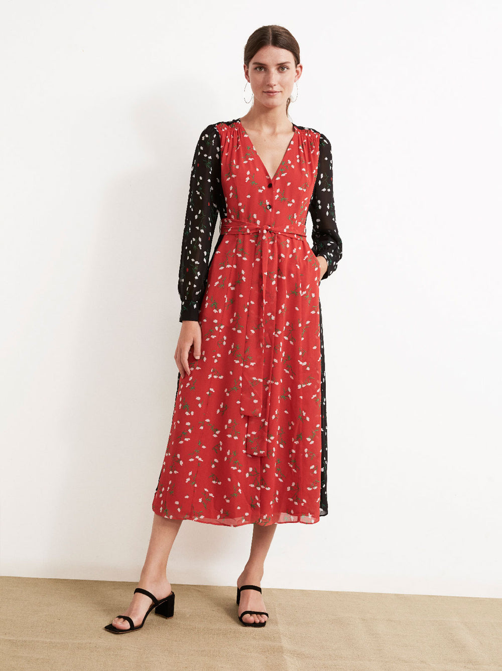 Geneviève Floral Print Patch Dress by KITRI Studio