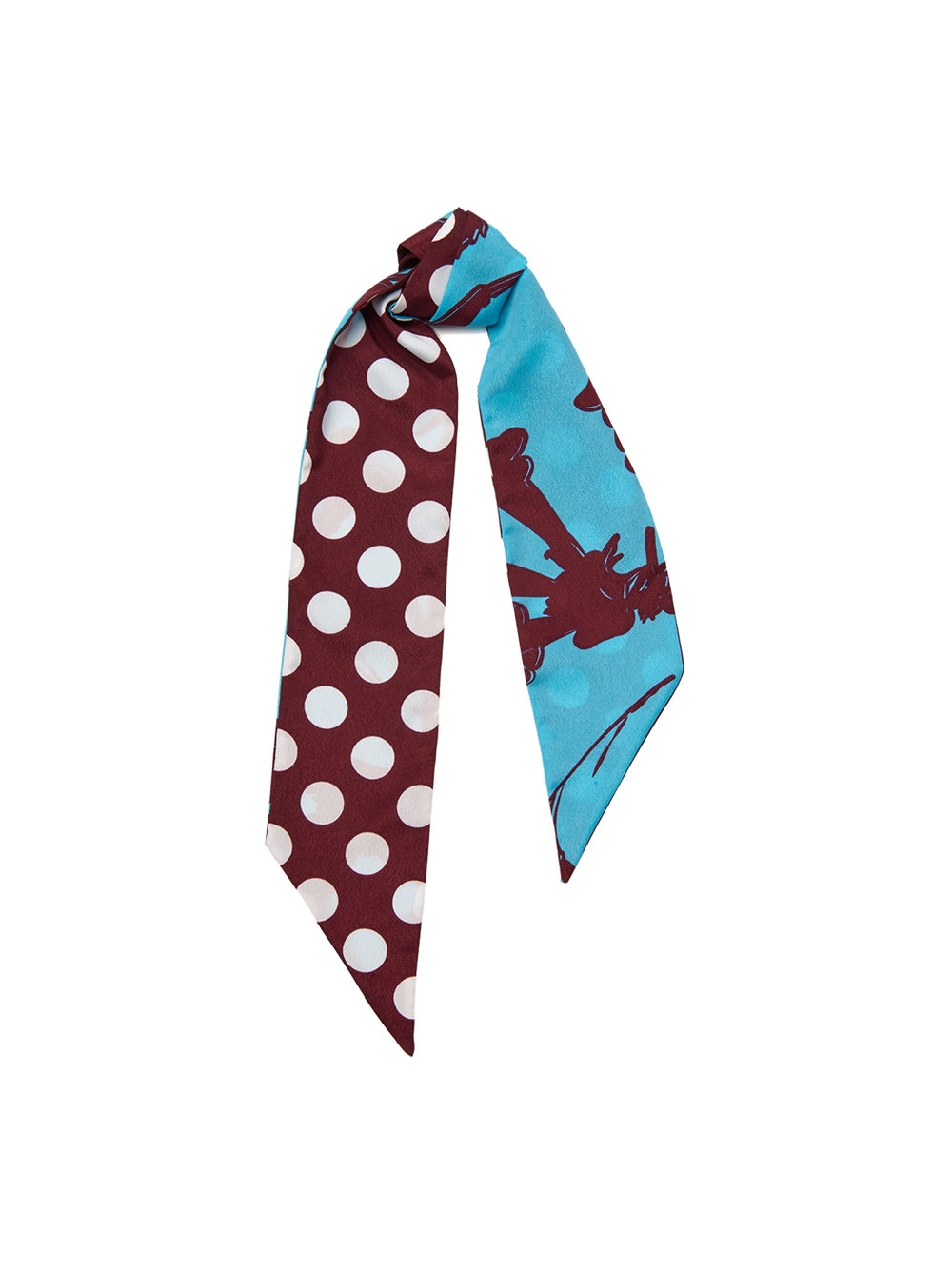 Mixed Print Hair Scarf by KITRI Studio