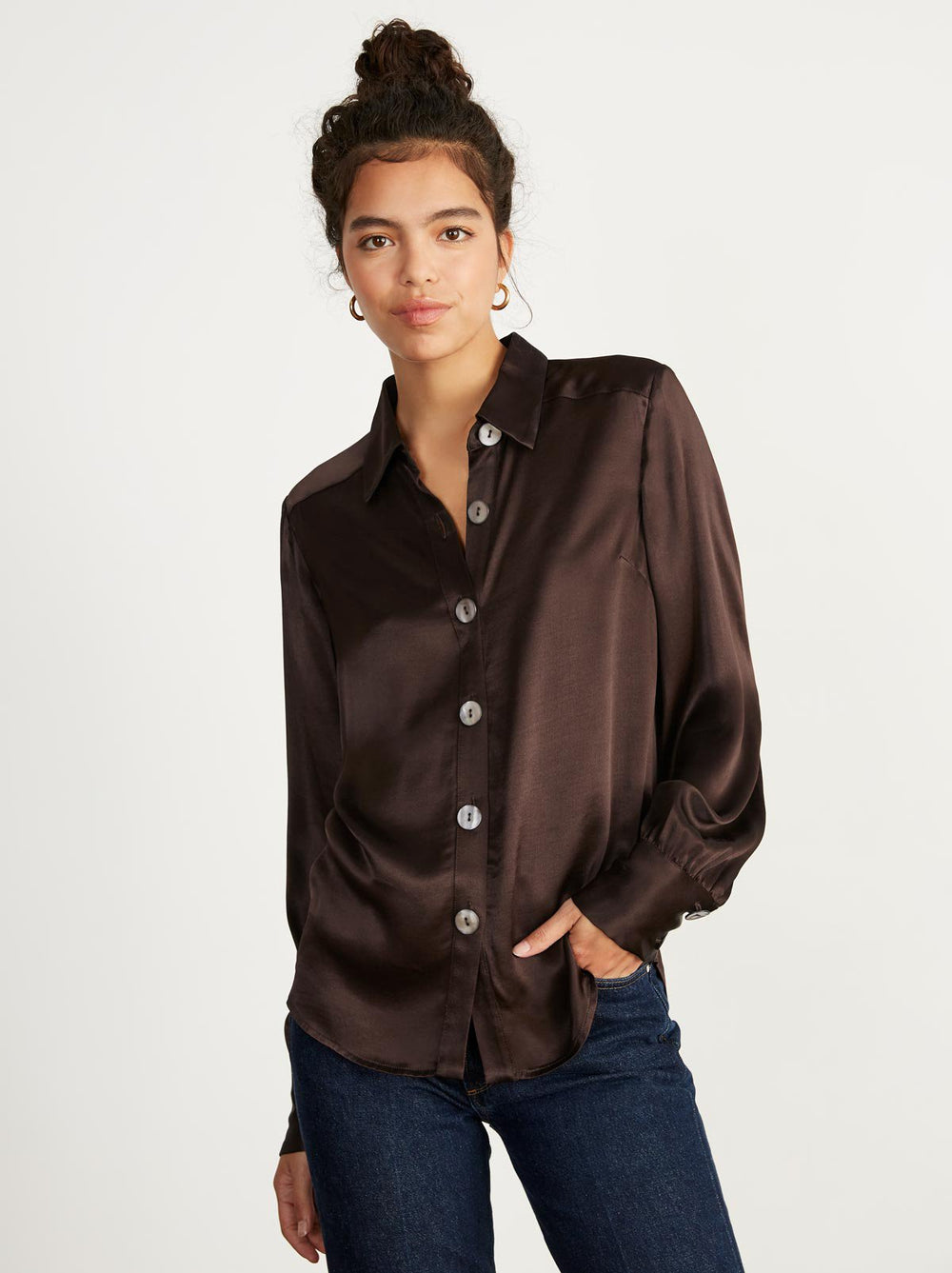 Joanna Chocolate Blouse by KITRI Studio