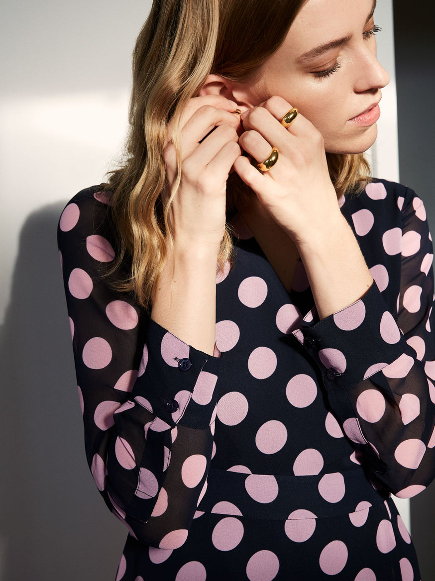 Jody Polka Dot Wrap Dress by KITRI Studio
