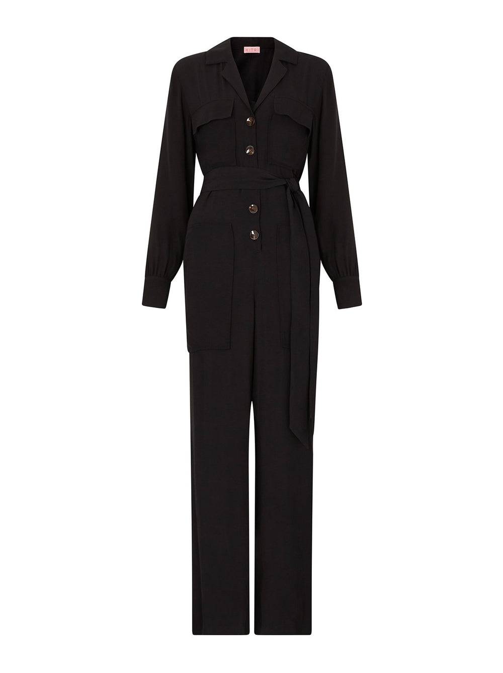 Johanna Black Utility Jumpsuit by KITRI Studio