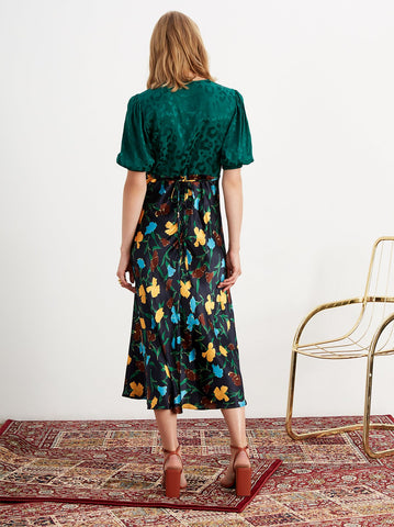 Joy Animal and Floral Tea Dress by KITRI Studio