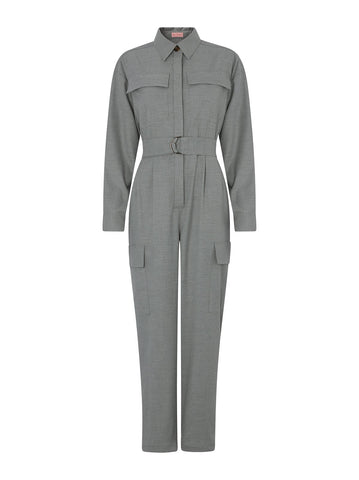 Jule Grey Flannel Boilersuit by KITRI Studio
