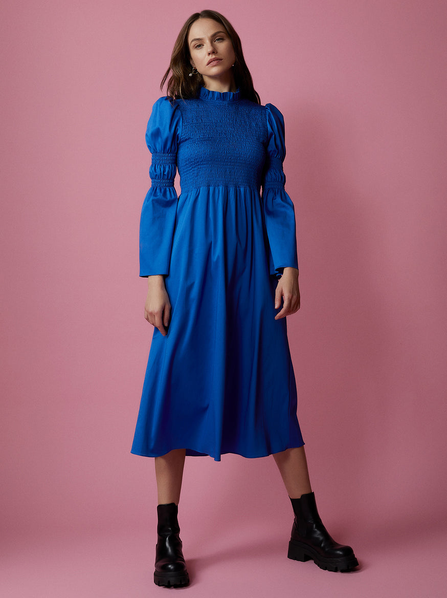 Juliette Cotton Shirred Dress by KITRI Studio