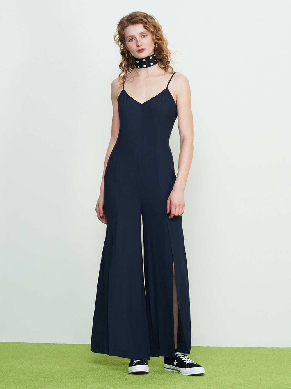 Alina Navy Split Leg Jumpsuit by KITRI Studio