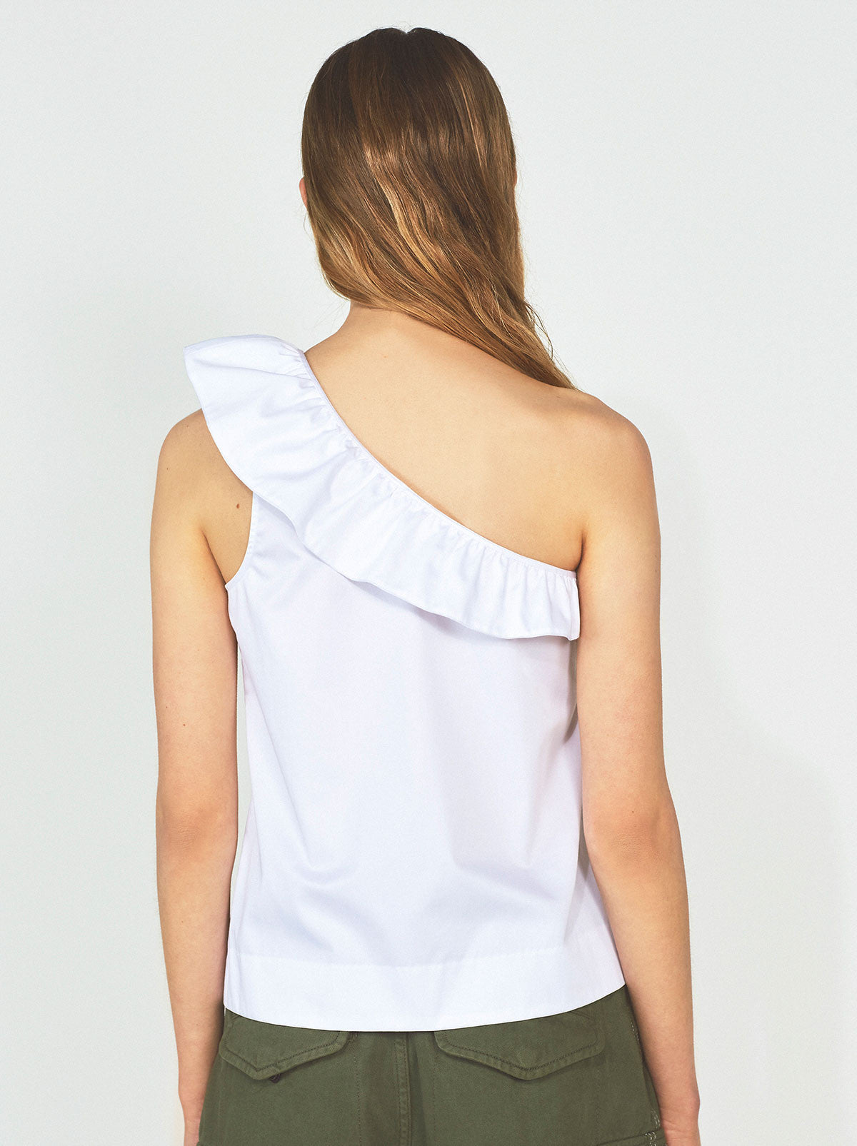Aurora Ruffle Neck Top
