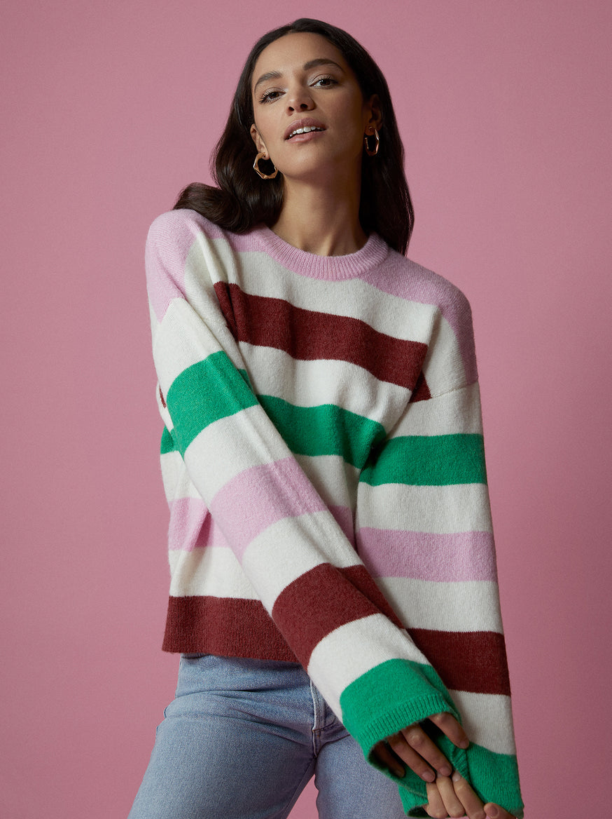Brooke Striped Sweater by KITRI Studio