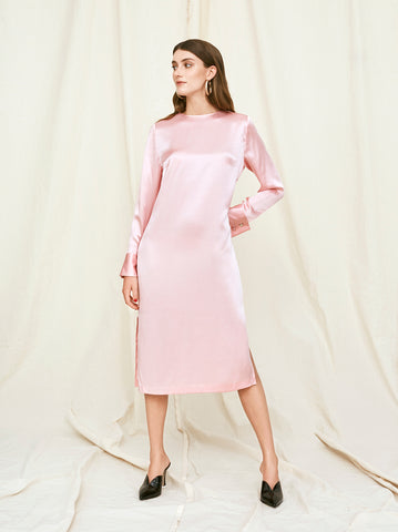 Degas Pink Silk Dress