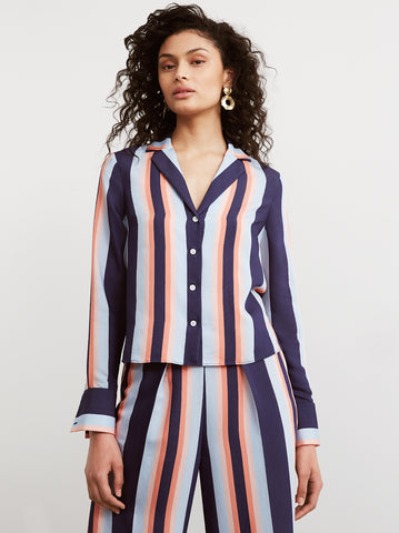 Delilah Striped Long Sleeved Shirt by KITRI Studio