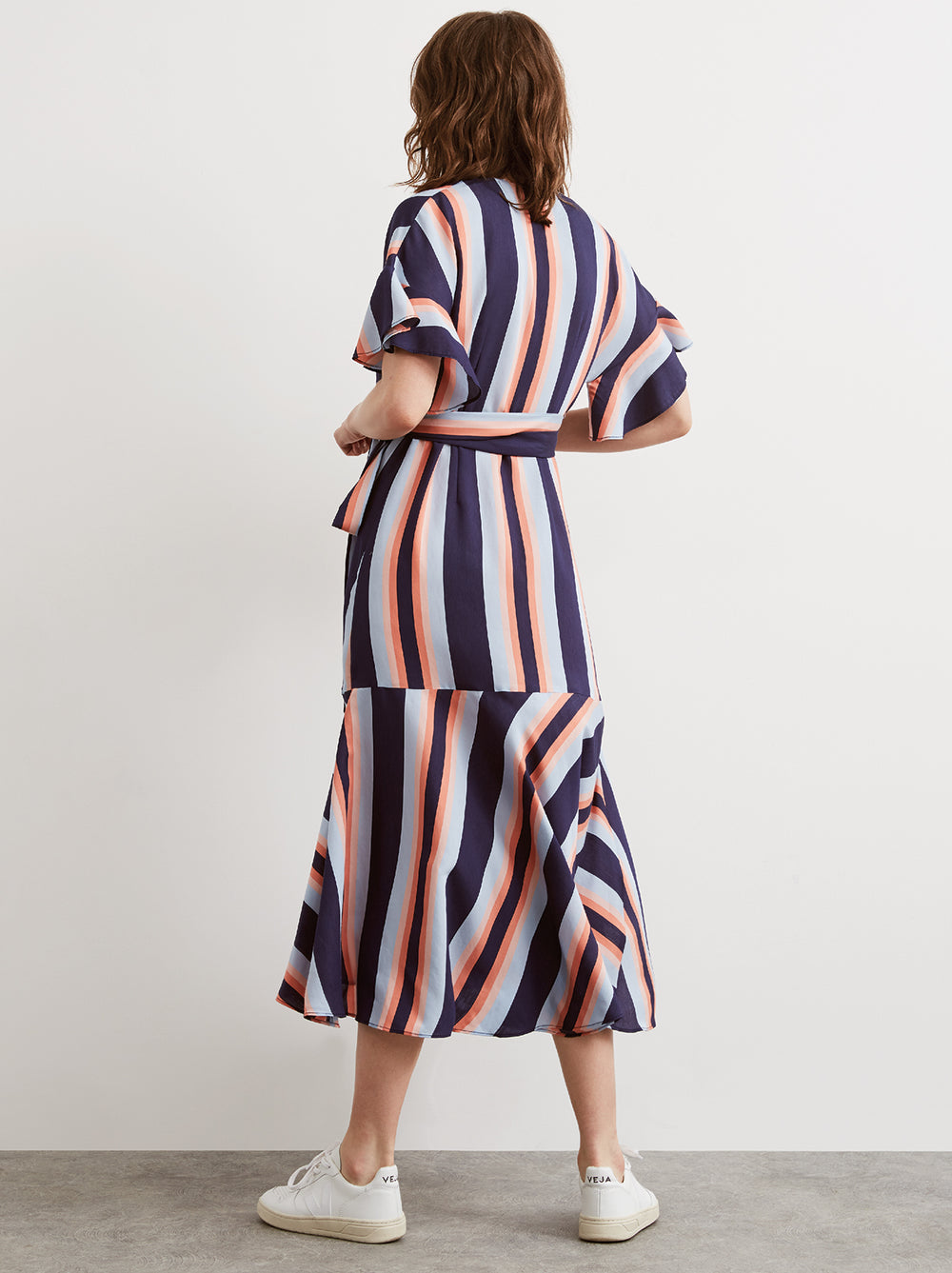 Eliana Striped Wrap Dress by KITRI Studio
