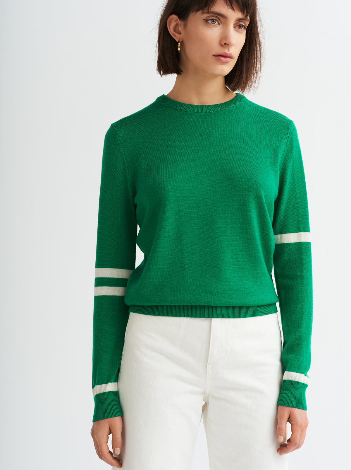 Iris Green Crew Neck Jumper
