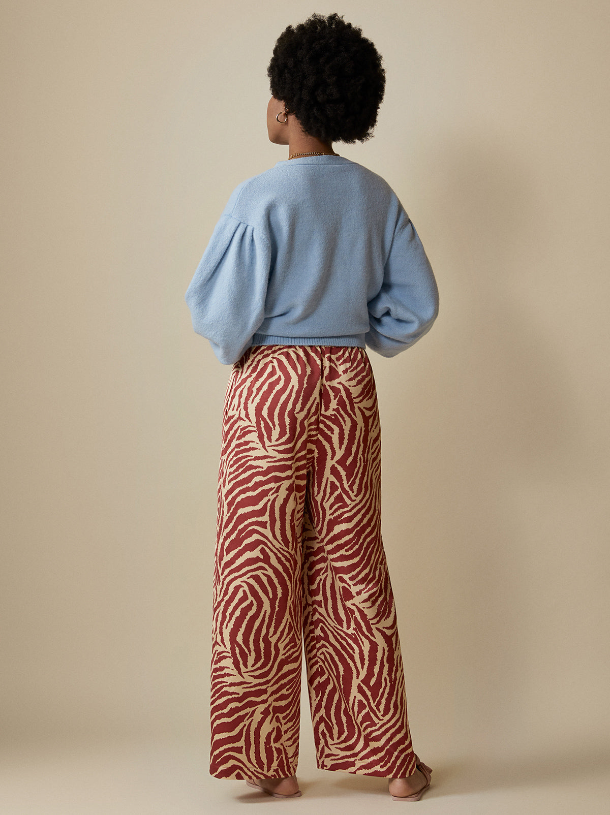 Kent Animal Print Drawstring Trousers by KITRI Studio