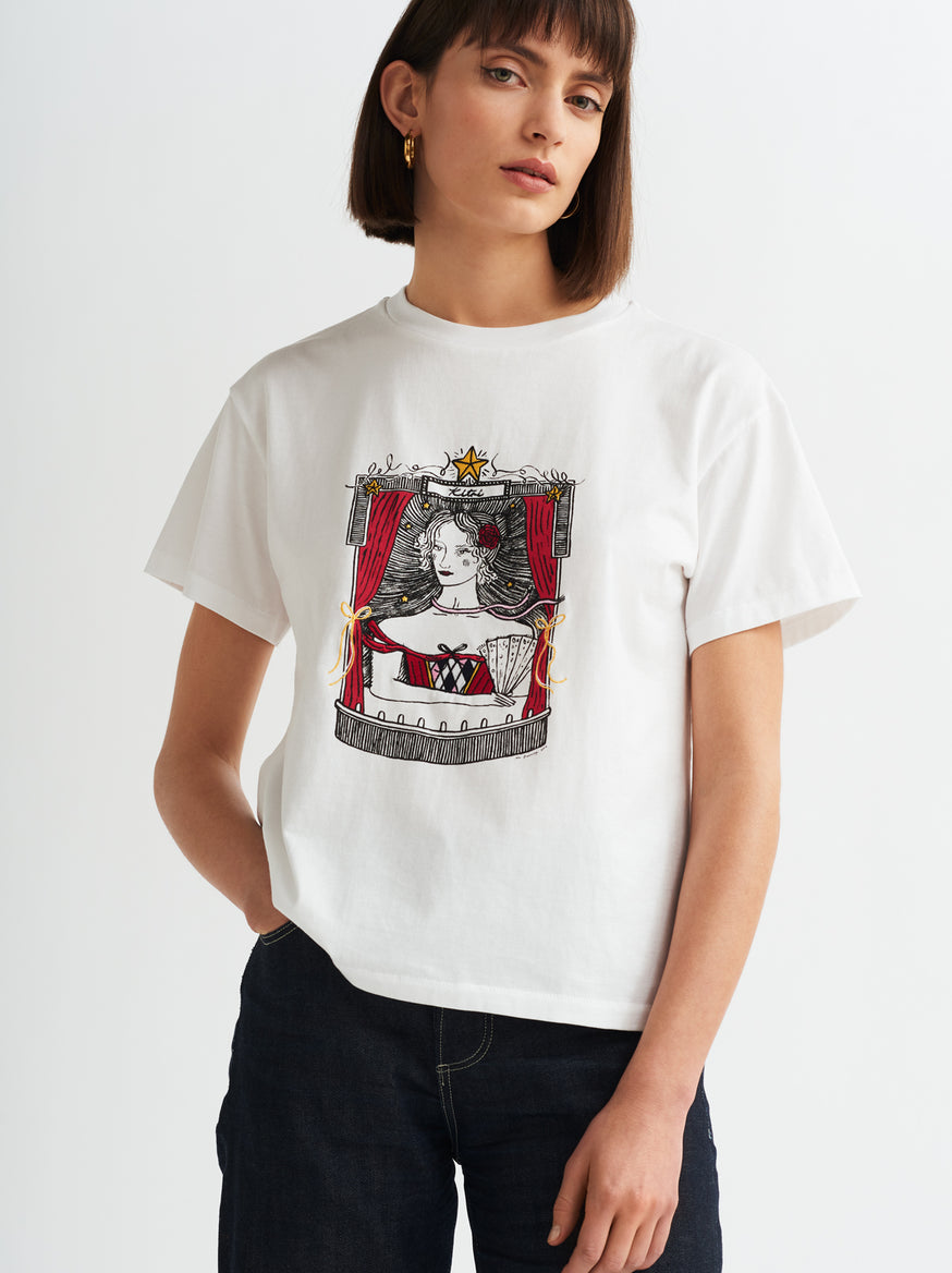 KITRI Cotton Crew Neck T-shirt by KITRI Studio