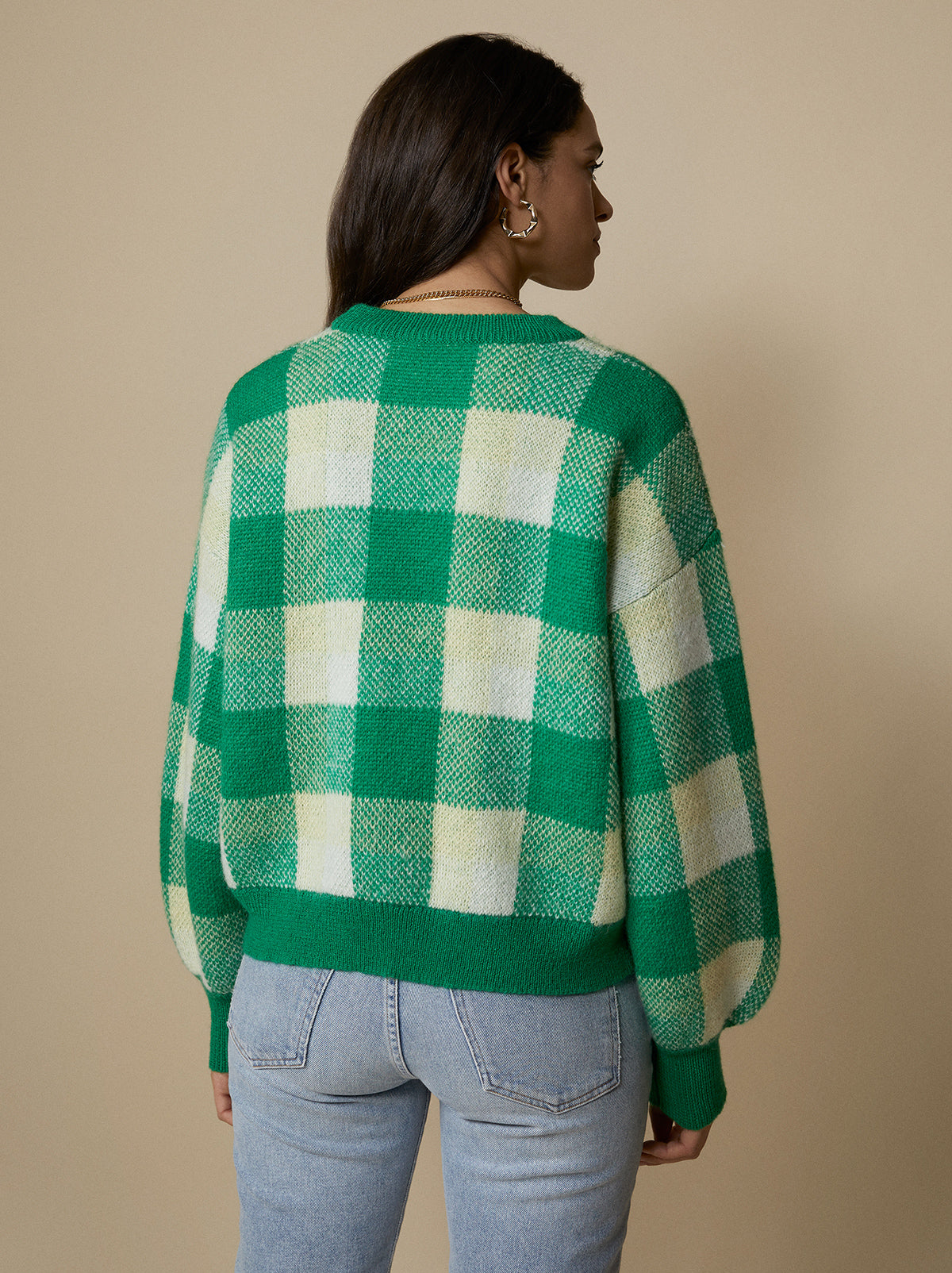 Lisa Checked Sweater by KITRI Studio