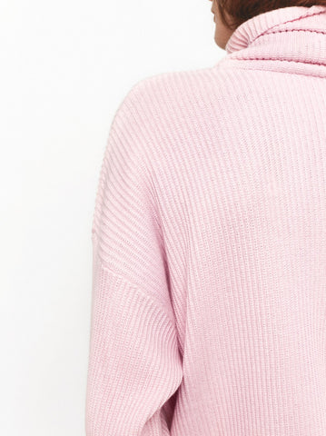 Mabel Pink Roll Neck Jumper