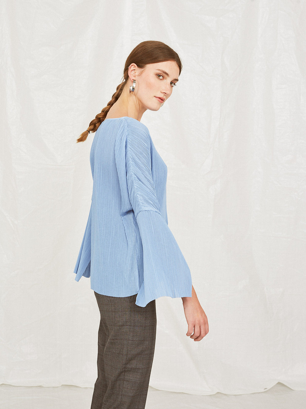 a881abaf4159d ... Melissa 3 4 Sleeve Blue Top by KITRI Studio