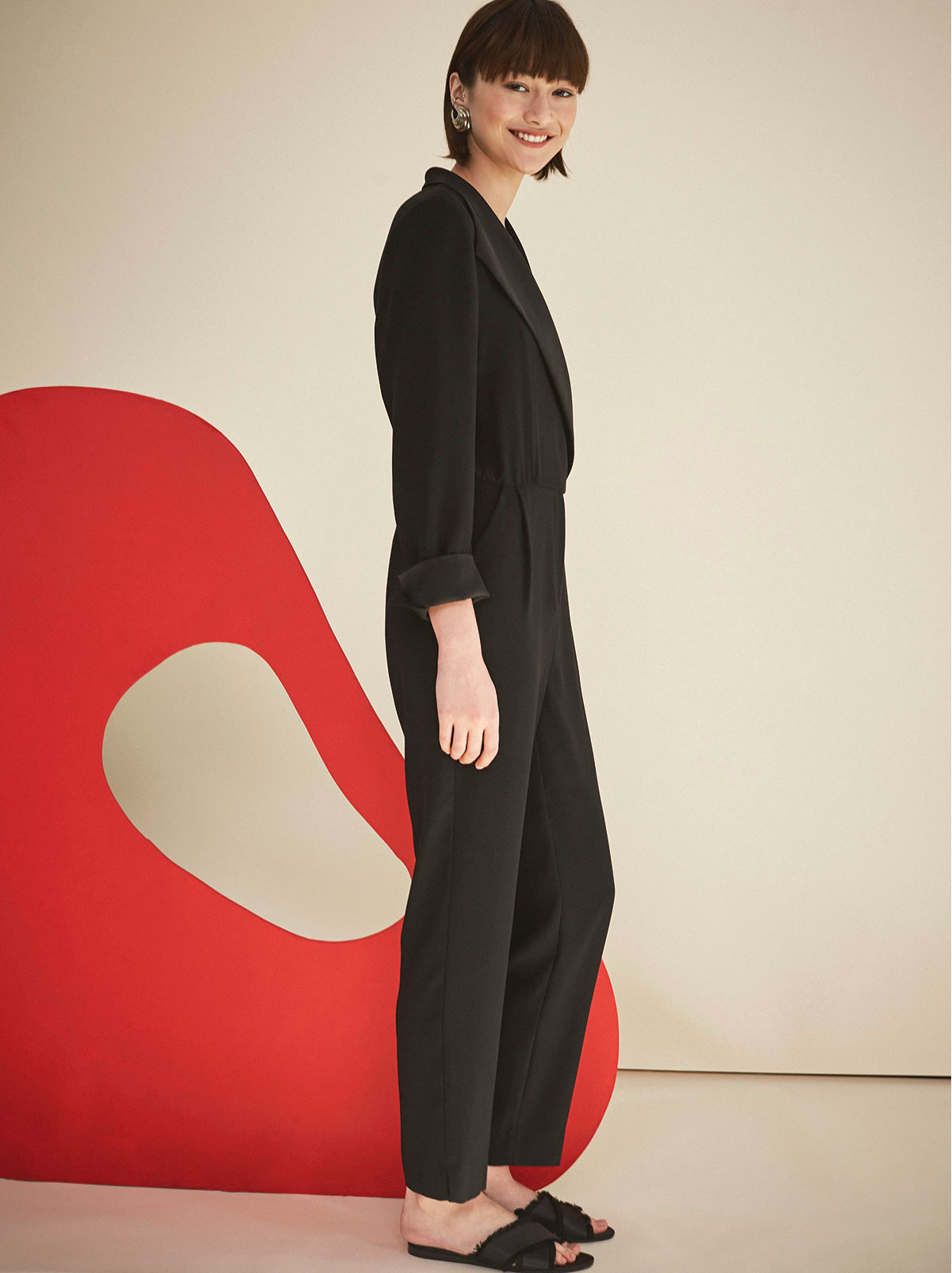 Black Tuxedo Jumpsuit | Women's Jumpsuits by KITRI Studio