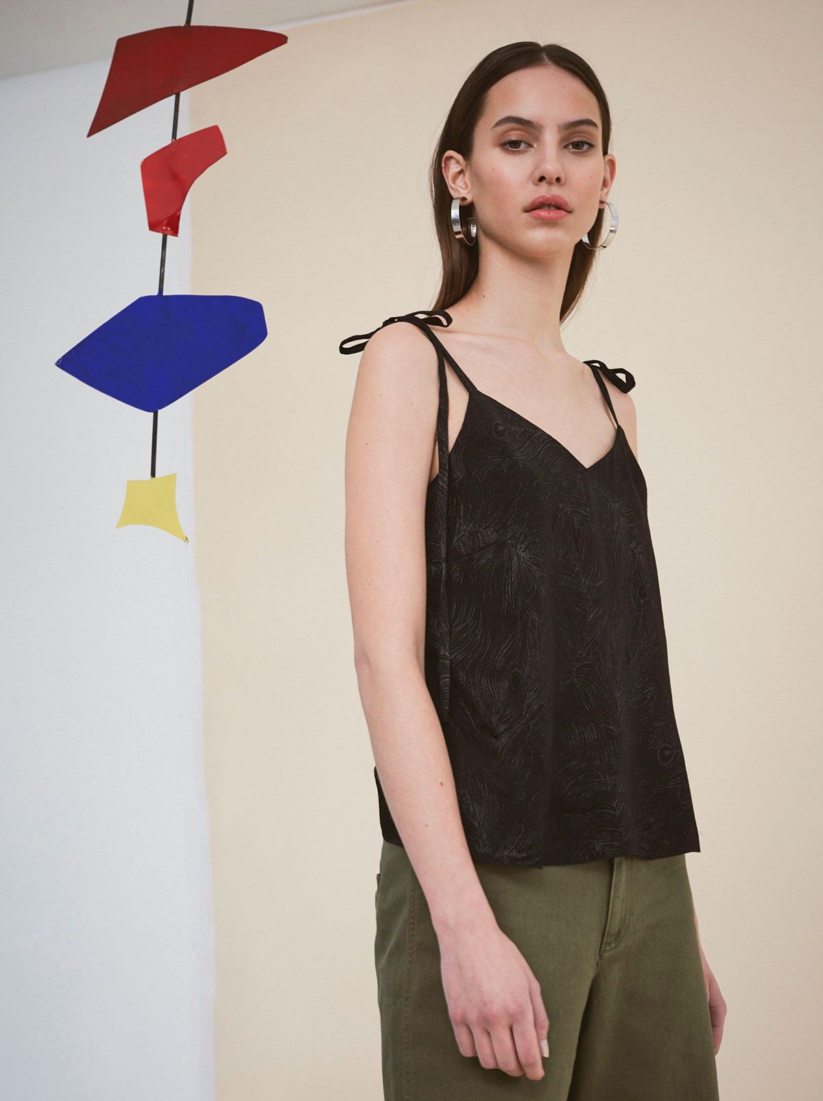 Paquita Black V-Neck Cami by KITRI Studio
