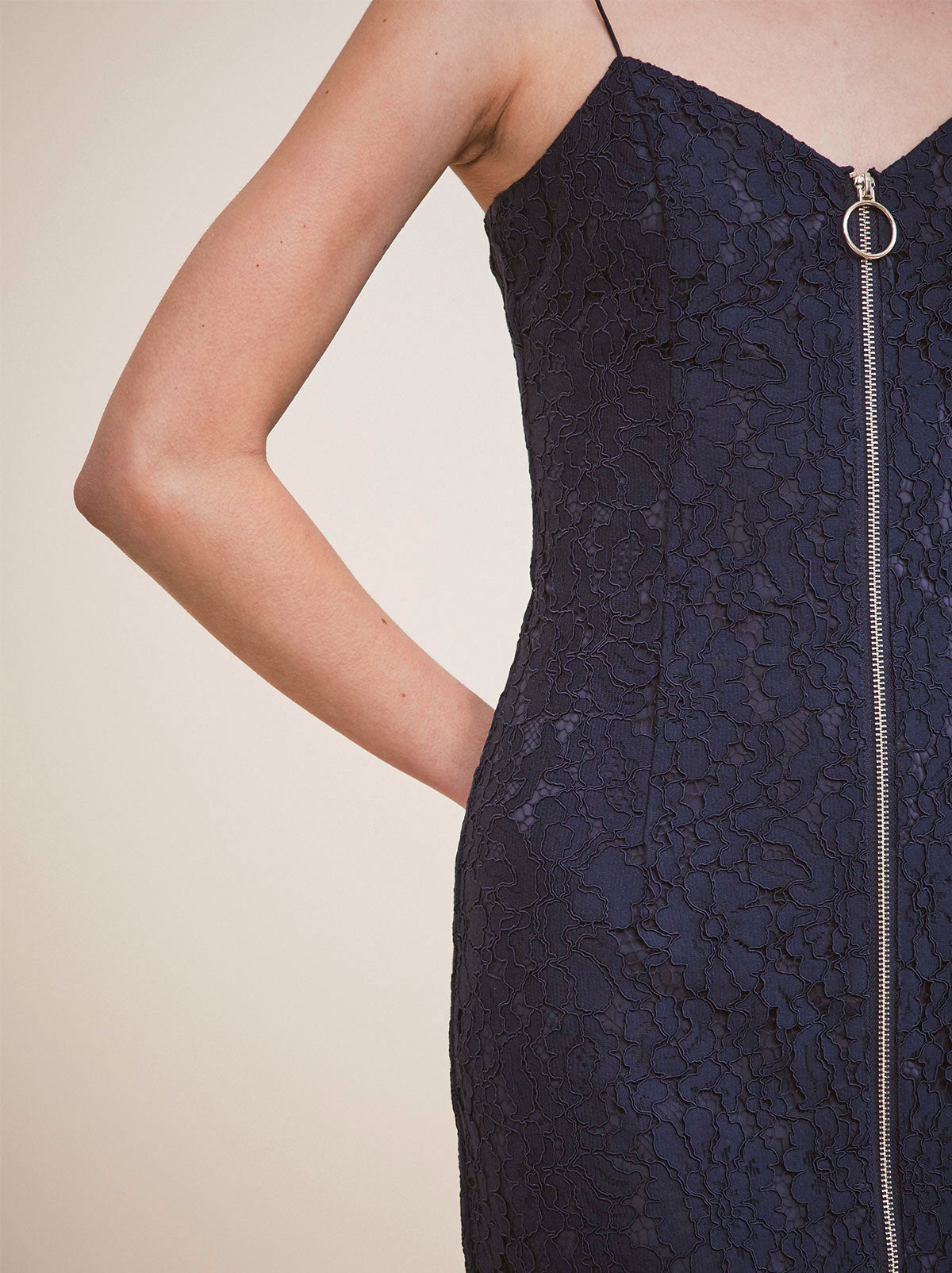 Petipa Navy Lace Cocktail Dress by KITRI Studio