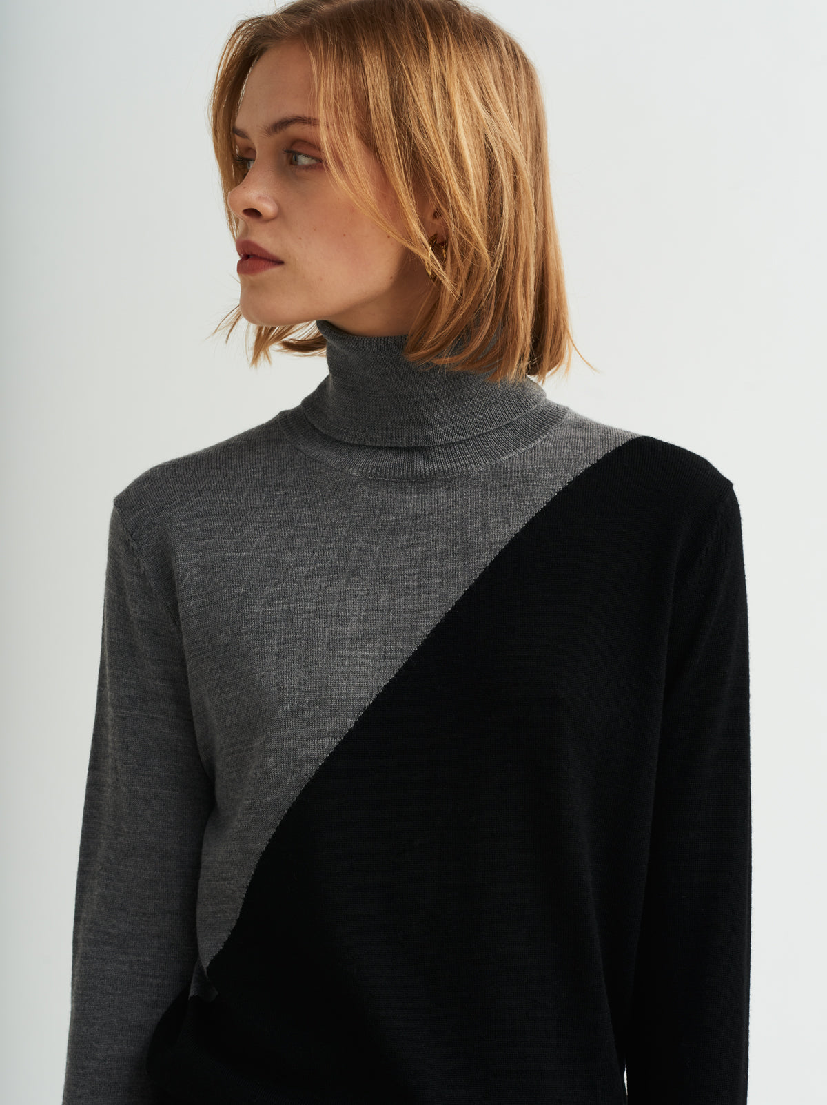 Phoebe Grey Roll Neck Jumper