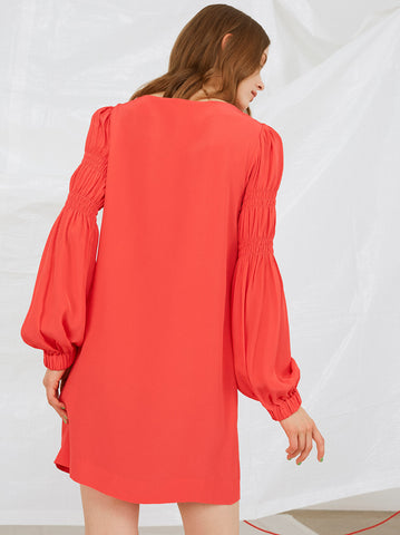 Pina Elasticated Sleeve Dress