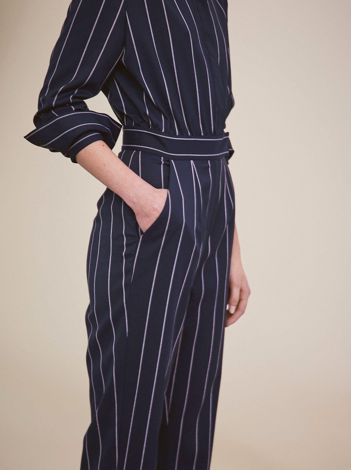 acfdcdeabe8 Roland Pinstripe Jumpsuit ...