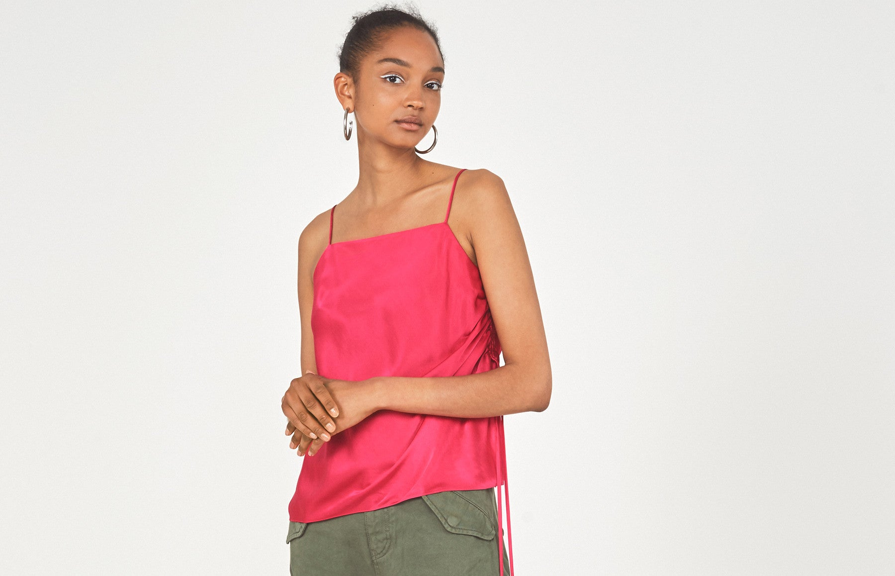 Rosie Pink Rouched Cami by KITRI Studio
