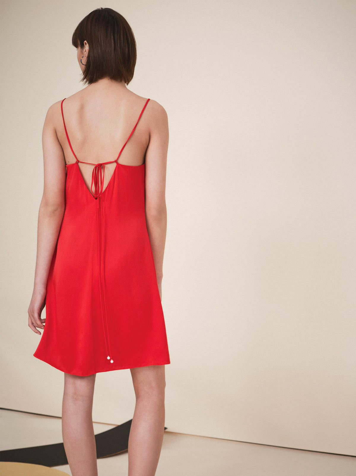 Scarlett Red Slip Dress